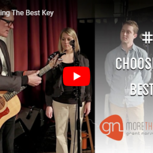 M3 Vlog Choosing The Best Key Grant Norsworthy