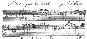 Hand-written musical notation Bach Blog Grant Norsworthy
