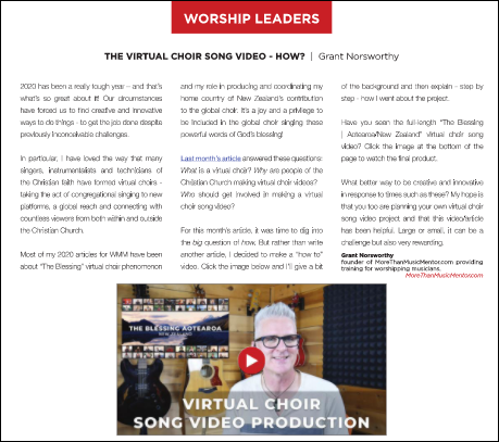 WMM November 2020 The Virtual Choir How Grant Norsworthy