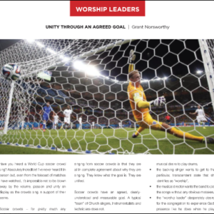 Unity Through An Agreed Goal Grant Norsworthy Blog