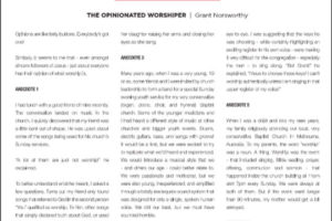 May 2021 WMM Grant Norsworthy Blog The Opinionated Worshiper